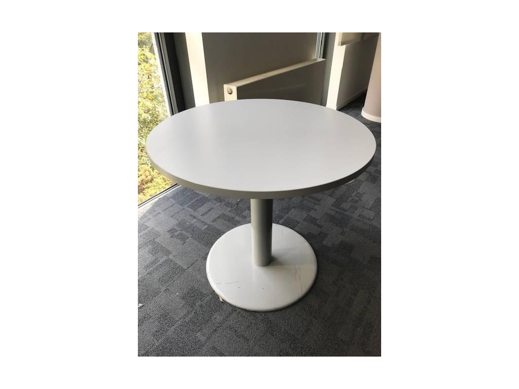 Stůl konferenční, centrální noha, kruh 80/75 cm, šedý