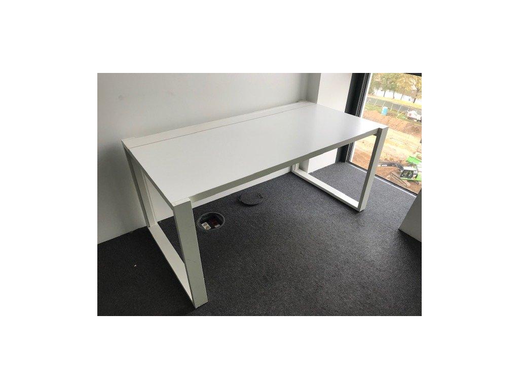 Stůl, Techo,W.O.T., 164x84cm, bílá/bílá, kabelová vana, bez paravánu