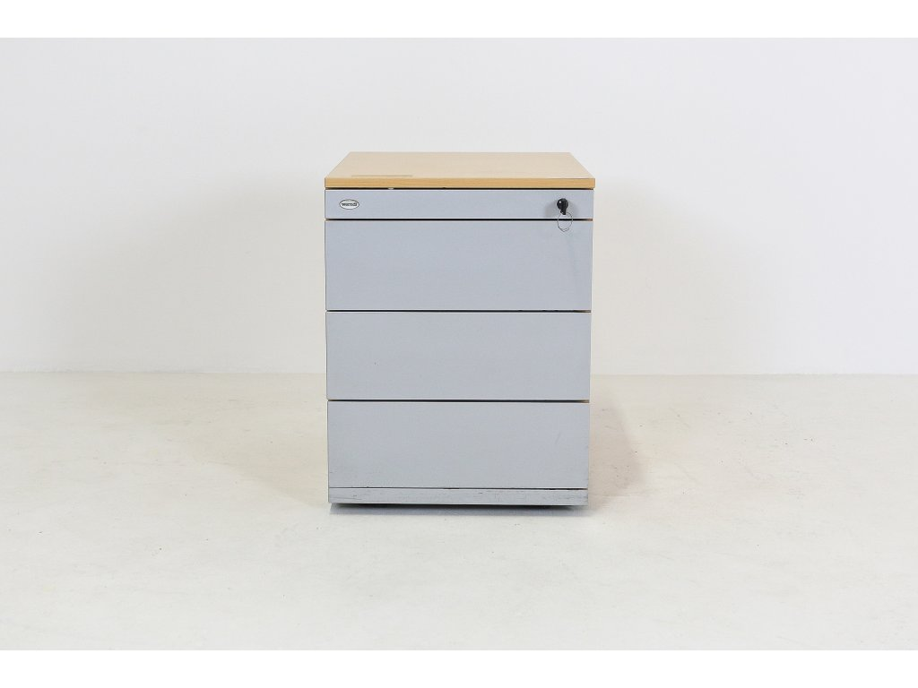 Kontejner, SteelCase, 54x43x58, Apple/šedá , 4x šuplík