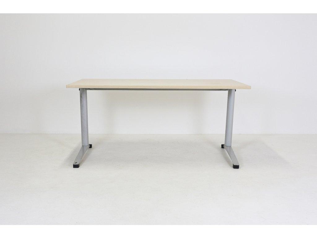 Stůl Steelcase Werndl, 140x80, javor/šedá