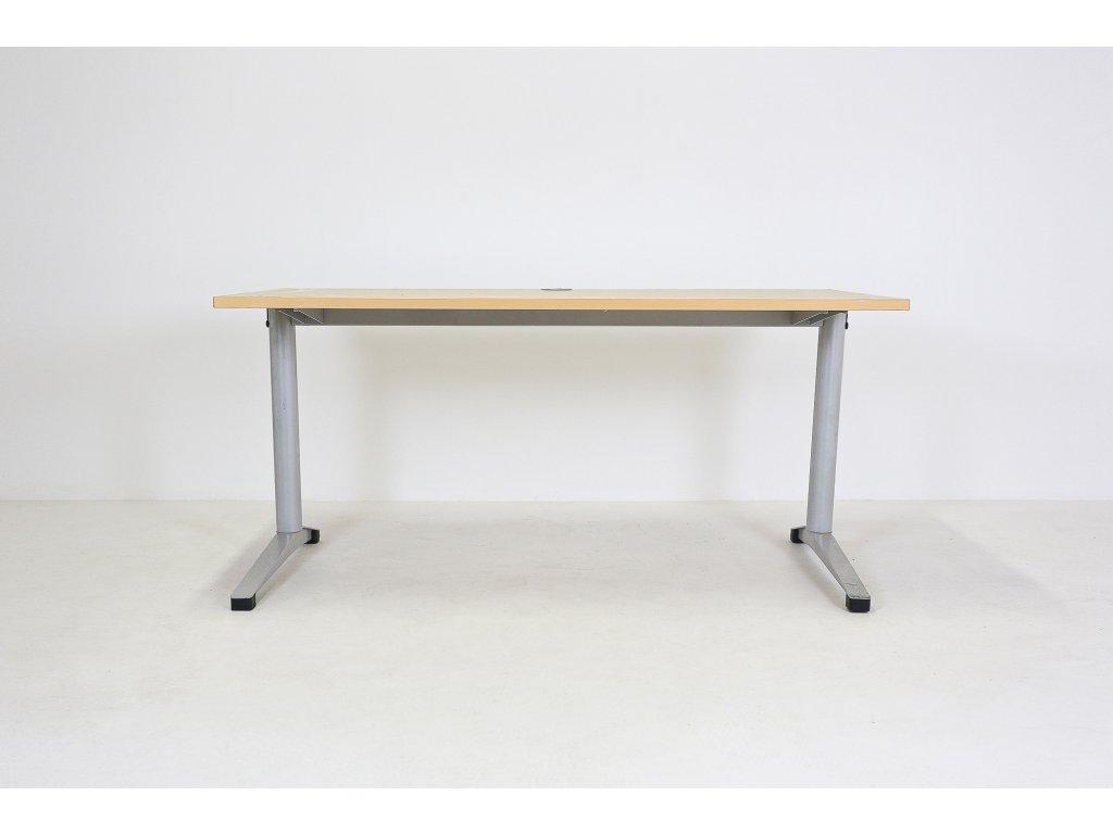 Stůl Steelcase Werndl, 140x80, apple/šedá