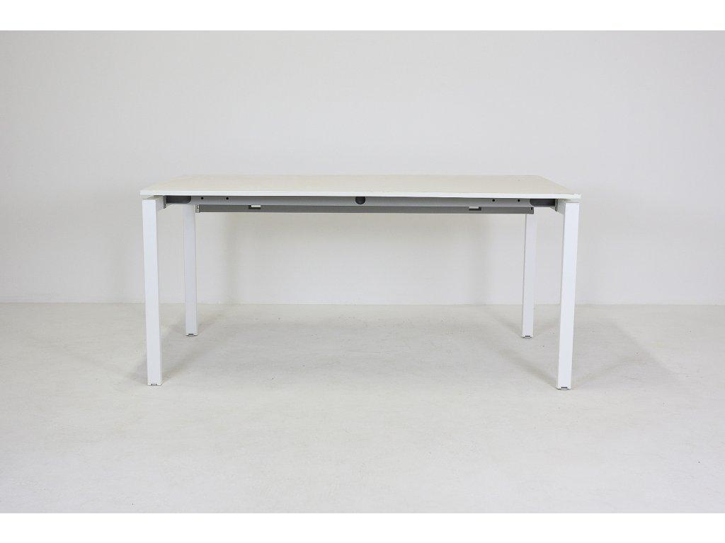 Stůl kancelářský, Wiesner, 140x80, bílá/bílá
