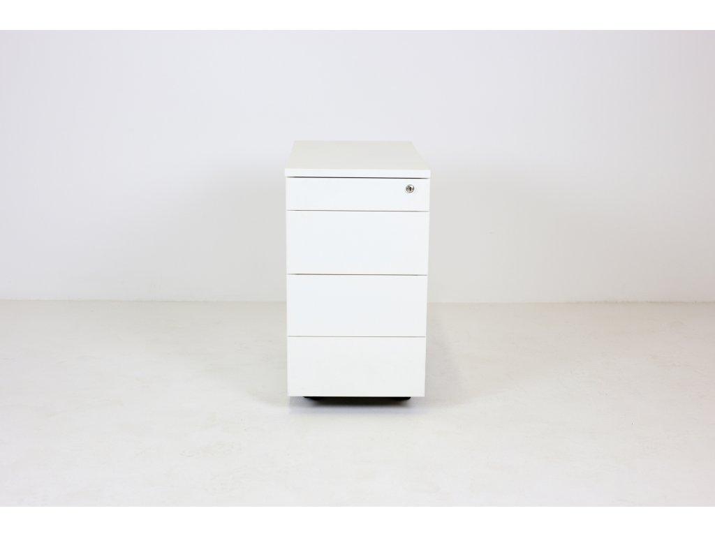 Kontejner, Techo, 60x33x60, bílý, kov, tužkovník