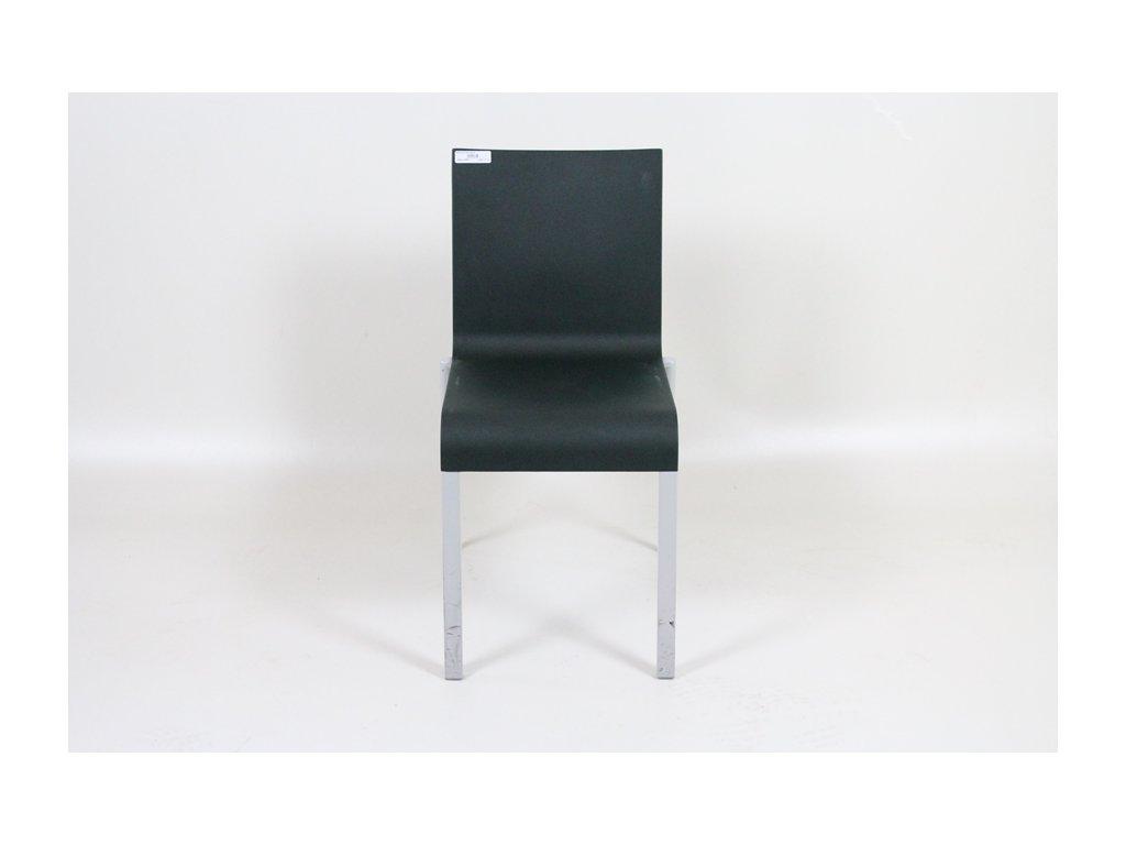Židle konf. Vitra .03 tmavě zelená/šedé nohy
