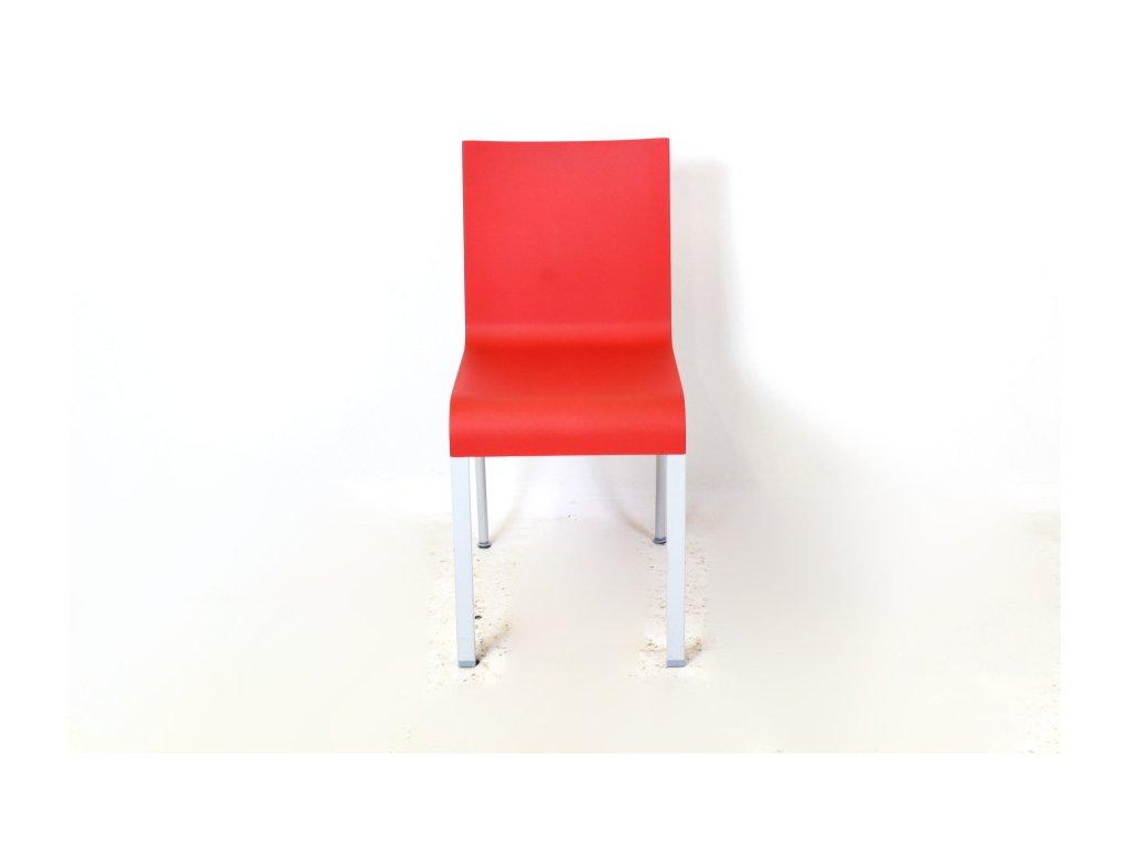 Židle Vitra .03 červená/šedé nohy