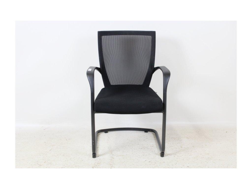 Židle konferenční, Sidiz, černá/černá, područky, síť záda