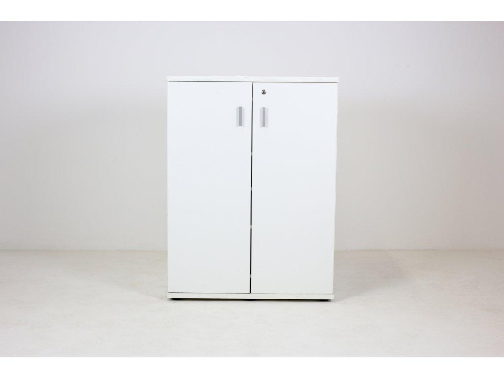Skříň, Techo, 107x80x47, bílá, police, zámek