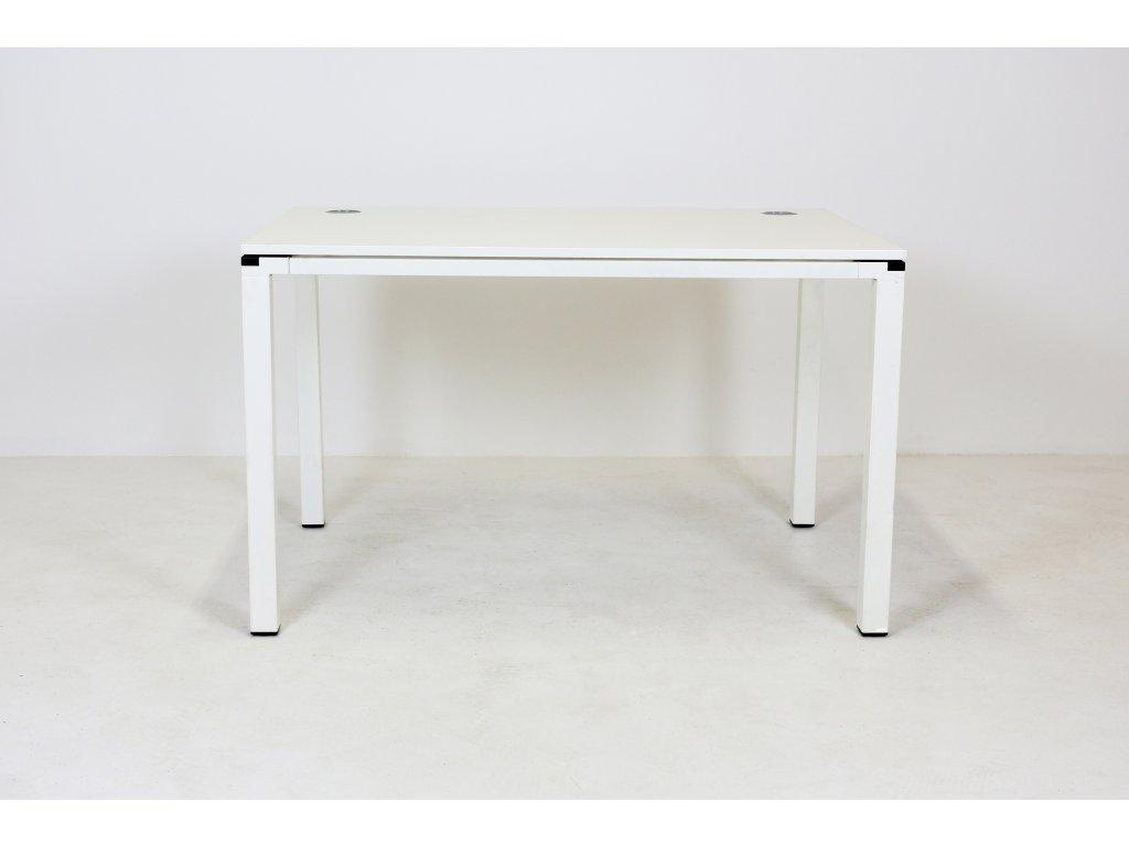 Stůl, Techo, 120x80, bílá/bílá, jäkl, rám
