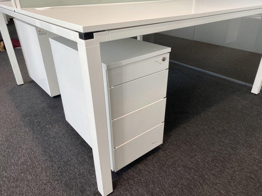 Stůl pro 2, Techo, 160x160, bílá/bílá, jäkl, rám