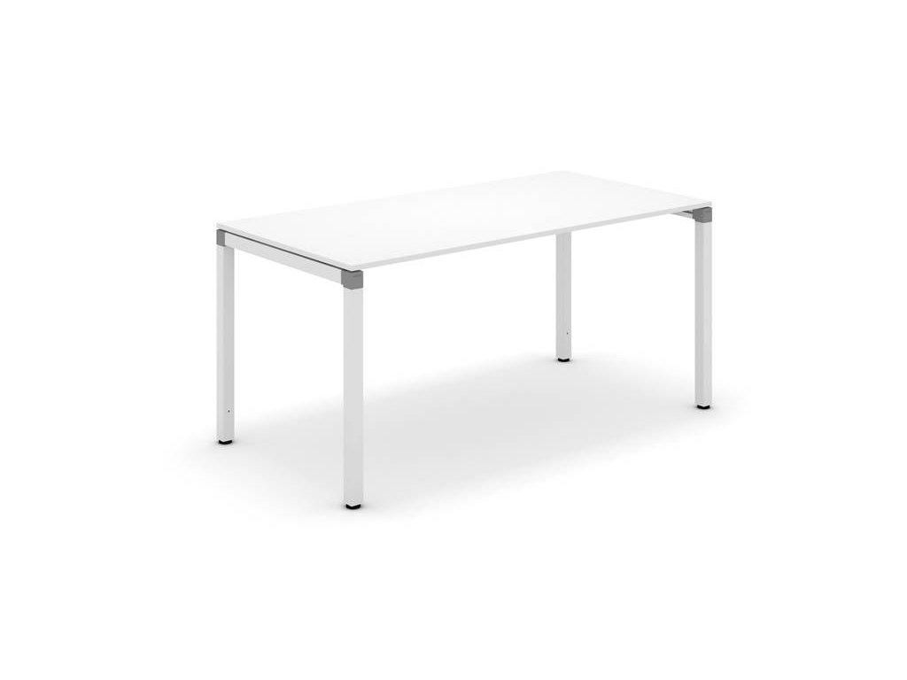 SET - Stůl 160x80 + zás. kontejner + skříň střední, Techo, bílá