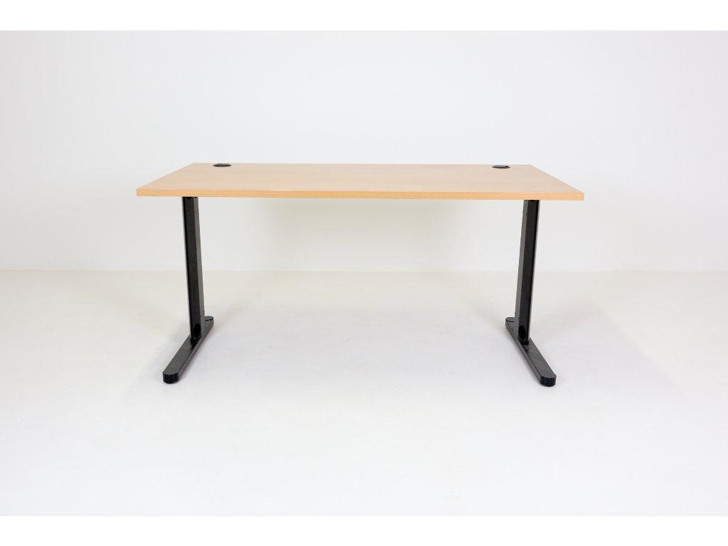 """Stůl 150 x 80, noha """"C"""", buk/černá,"""