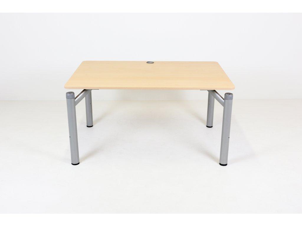 Stůl 120x90/80, hruška/černá noha