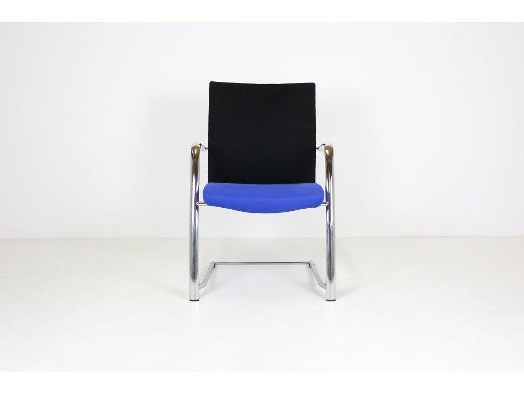 Židle konferenční, Rim, Futura, modrá/chrom