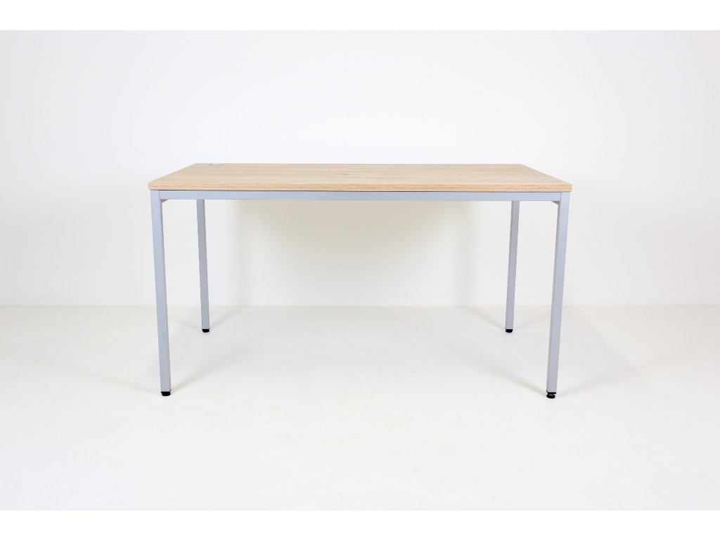 Stůl CL200, 140x80, běl.dub, clona nohou