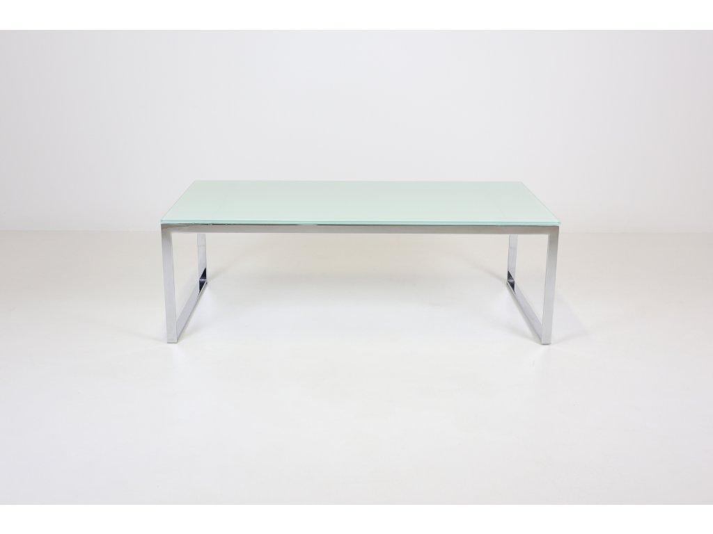 Stůl konferenční, v39x120x60, chrom/sklo mat