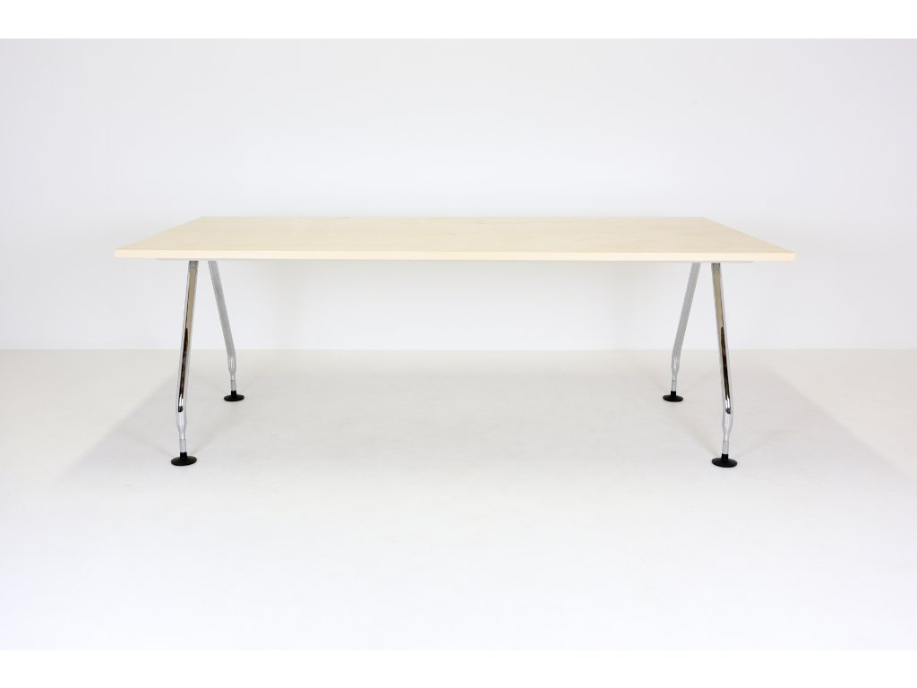 Stůl konferenční, Vitra, ad-hoc , 202x100, chrom/javor