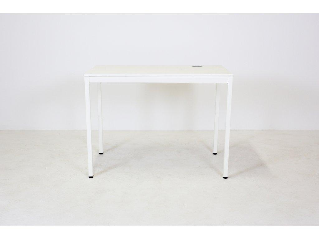 Stůl, Techo-Esprit, 100x60, bílá/bílá, jäkl, rám