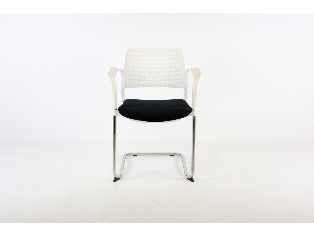 Židle, LDseating, Dream, bílá/černá/chrom, područky