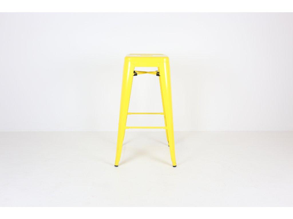 Židle barová, Ikea, žlutá, kov