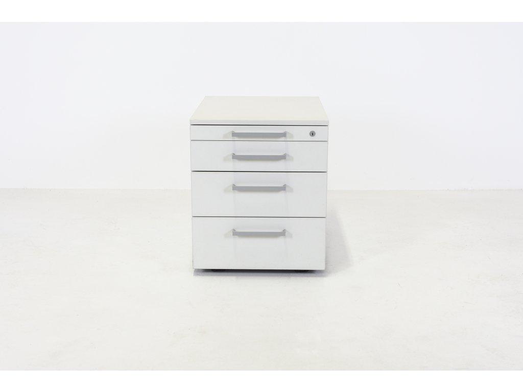 Kontejner, Steelcase, v52x58x42, bílá, 3x3x3x3, kolečka