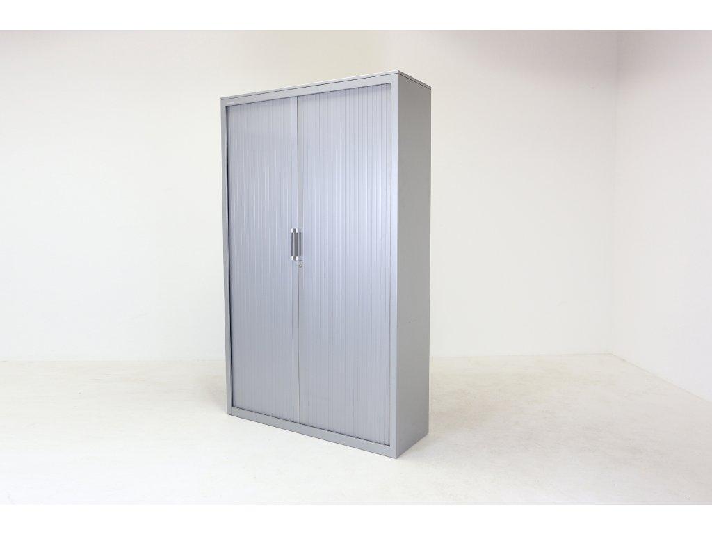 Skříň, Steelcase, 6OH, 200x120x43, kov, šedá, žaluzie, police, zámek