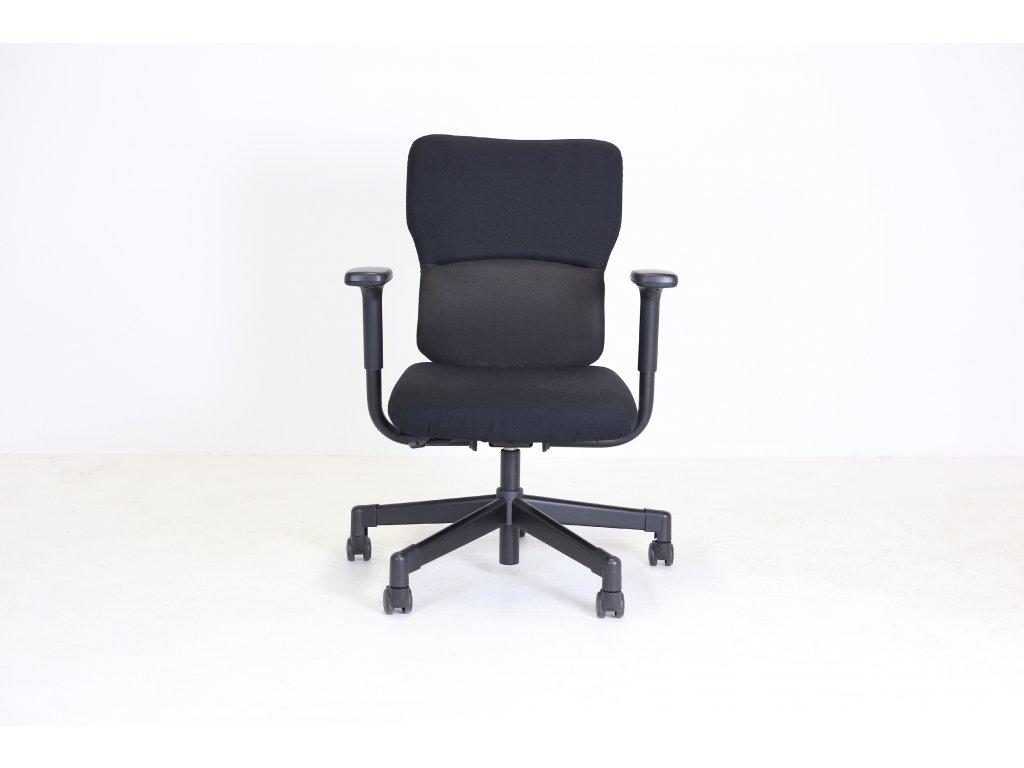 Židle kancelářská, Let´be, Steelcase, černá, područky