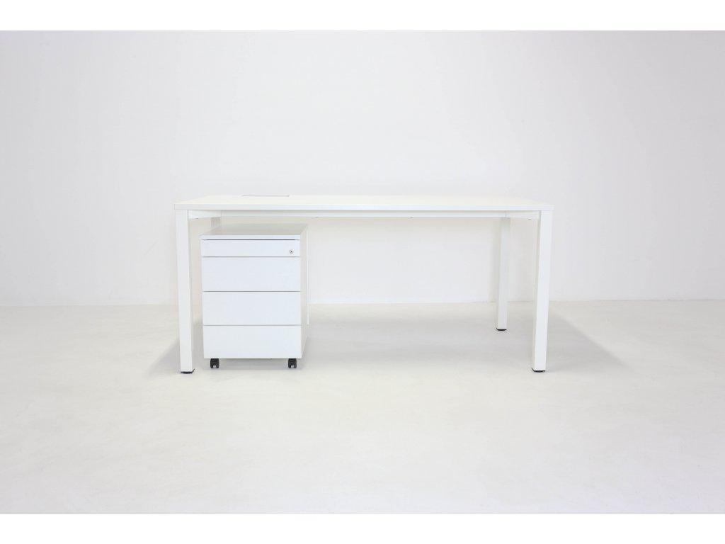 Set: Stůl Alfa 160x80 + kontejner