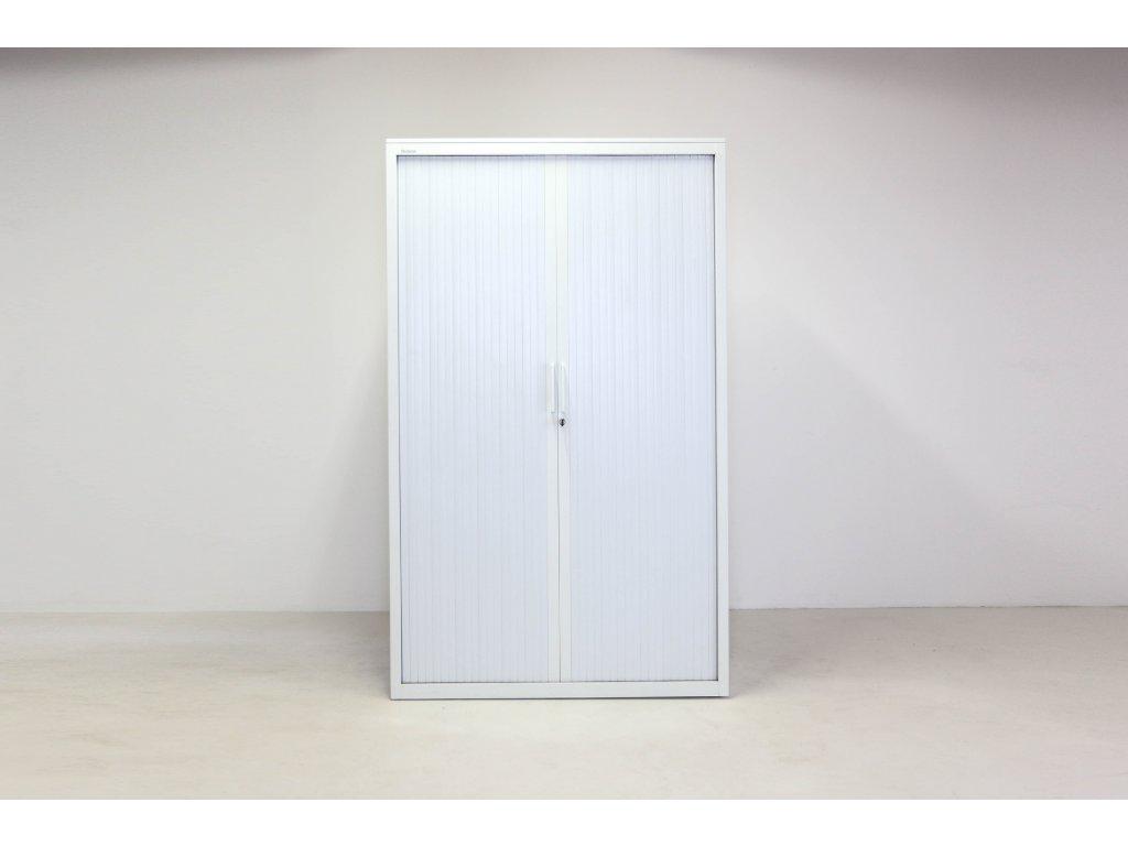 Skříň, Steelcase, 198x120x43,bílá,kov.,žaluzie,police