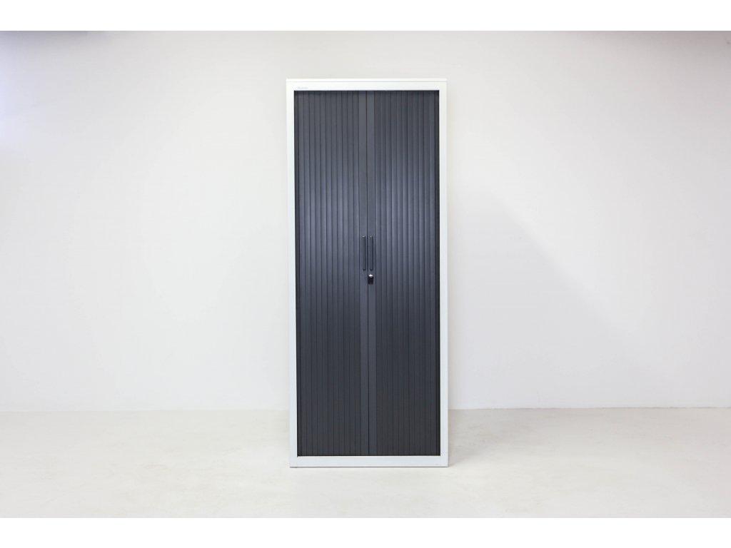 Skříň, Steelcase, 198x80x43,bílá/granit,kov.,žaluzie,šatní