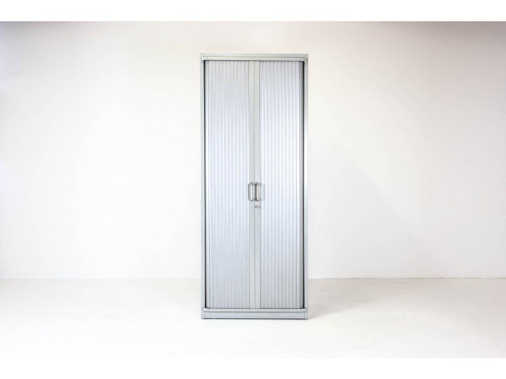 Skříň, Steelcase, 5OH, 200x80x43, kov, šedá, žaluzie, police, zámek, OBLÁ
