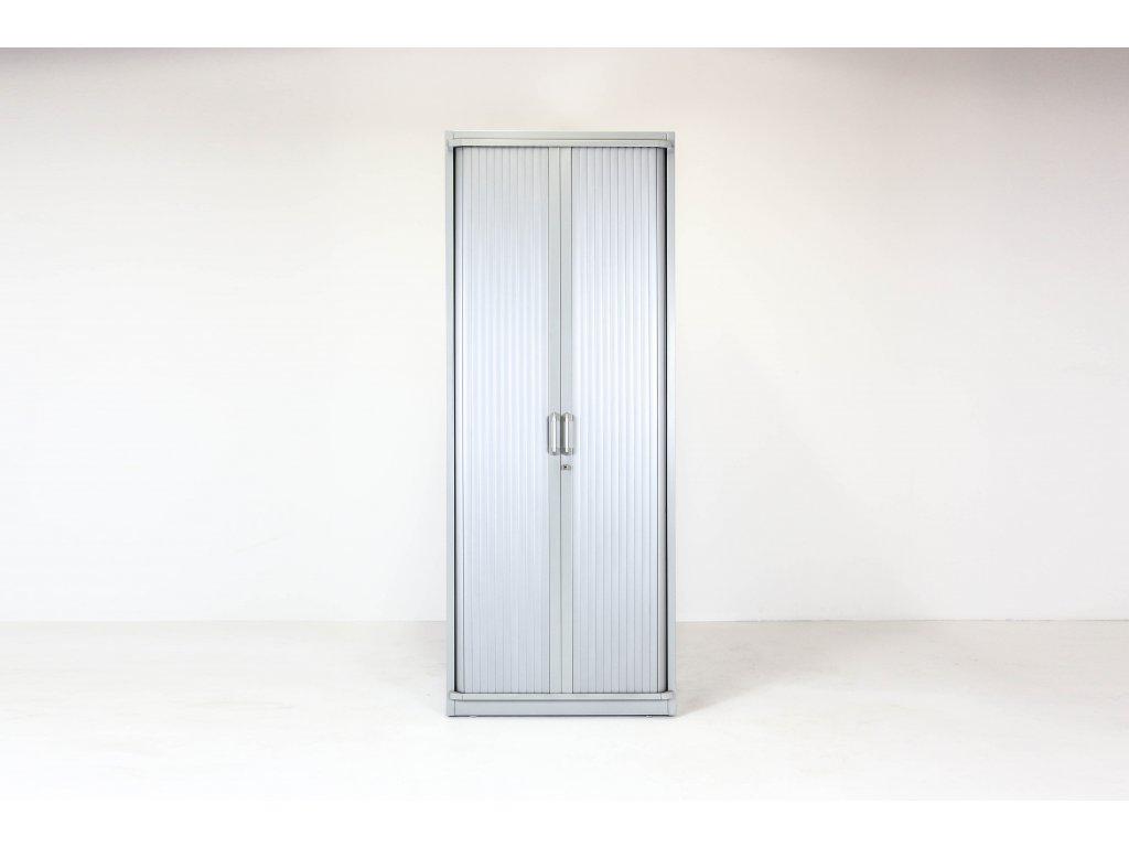 Skříň, Steelcase, 200x80x43, kov, šedá, žaluzie, šatní, zámek, OBLÁ