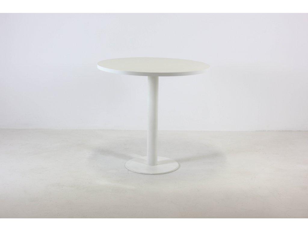Stůl konferenční, Techo, 80 pr., v.72,5cm, bílá/bílá, kruh