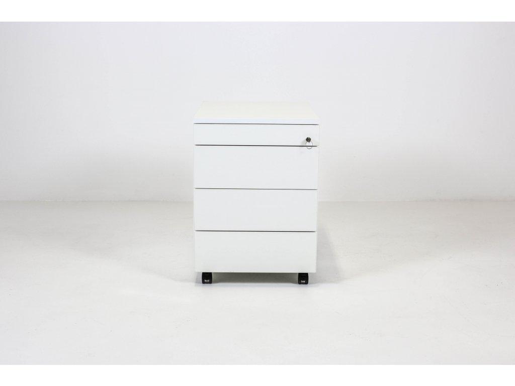 Kontejner, ALFA, 60x60x42, bílá, zámek, tužkovník