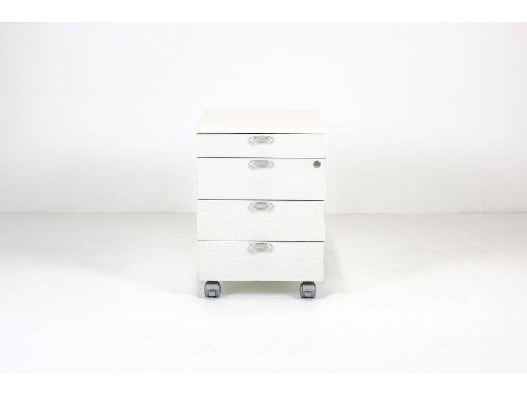 Kontejner, LAS, 58x55x42, bílá, zámek, kolečka
