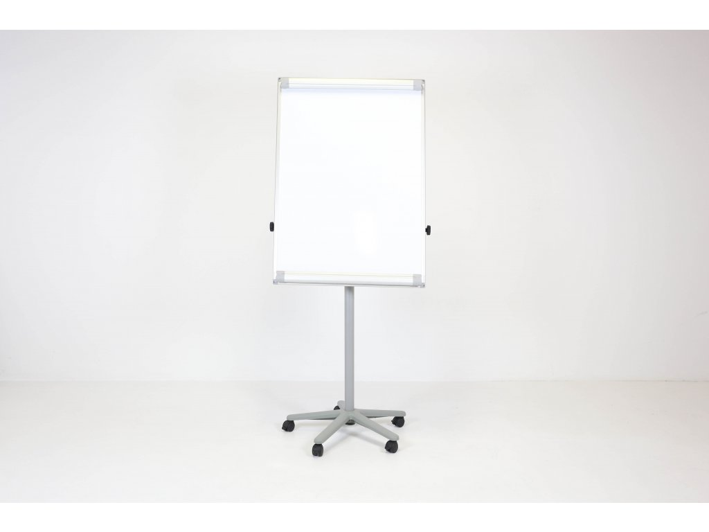 Flipchart na kolečkách, rozměr plochy 100x80, šedý