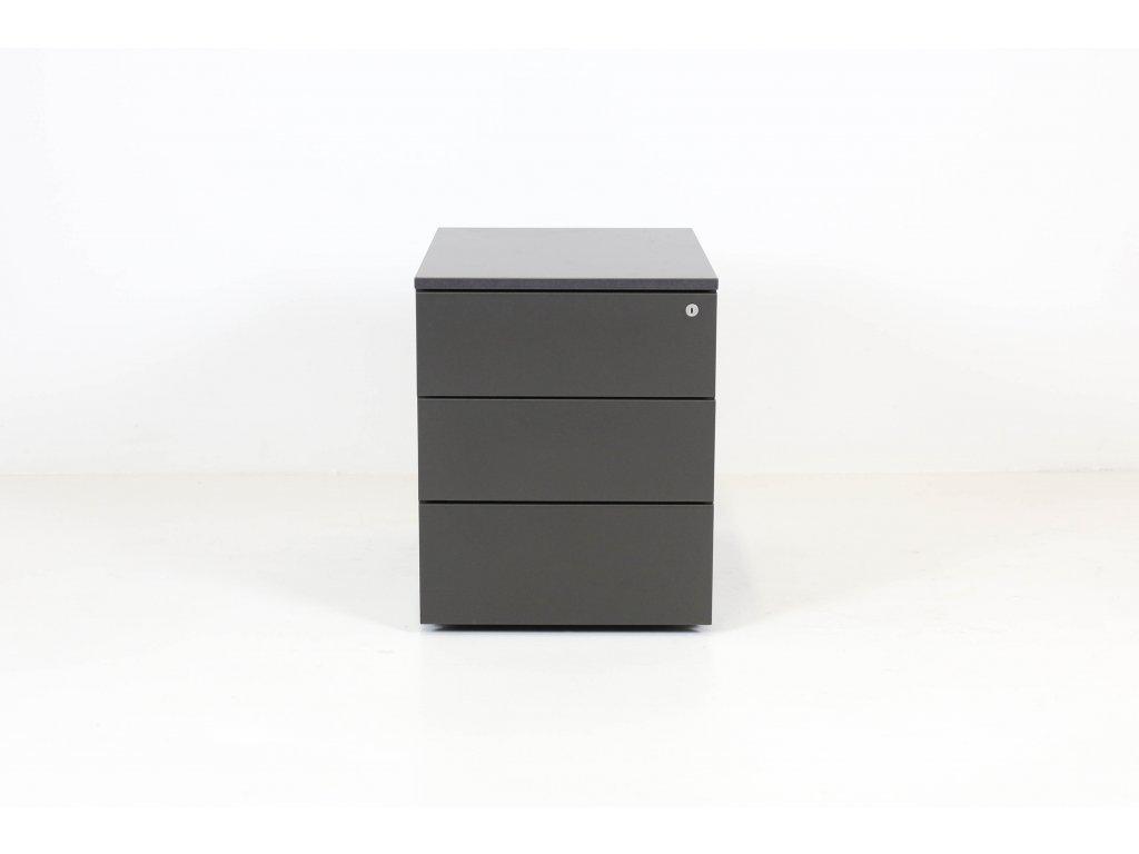Kontejner, Steelcase, 52x42x59h, granit, tužkovník, kolečka