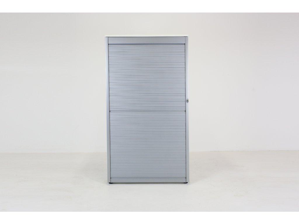 Skříň 40H, Techo, 160x90x47, bílá/šedá, žaluzie