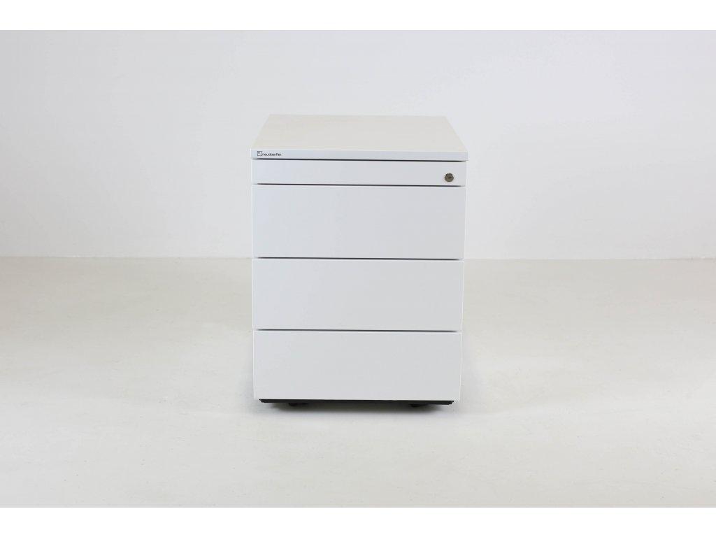 Kontejner, Neudoelfler, v56x43x60, bílá, kolečka /manažer/