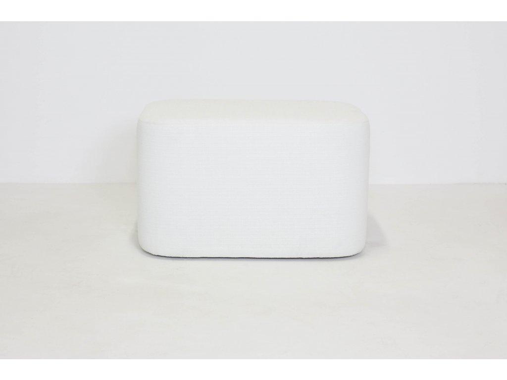 Sedák, v45x78x56, polstrovaný, bílá látka