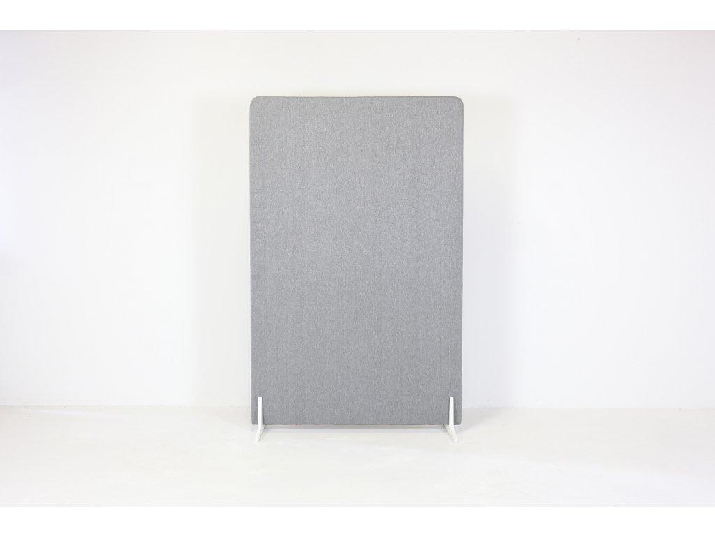 Paraván, v181x120x3,5, látka šedá, samost. stojící, podnož
