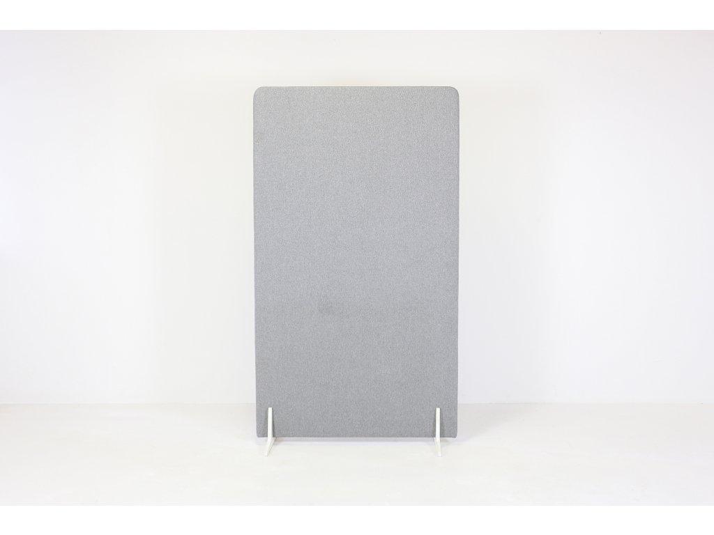 Paraván, v181x106x3,5, látka šedá, samost. stojící, podnož