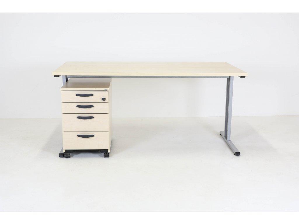 Set: Stůl Profil + kontejner Kinnarps javor/šedá