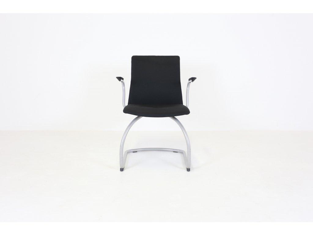 Židle konferenční, Kinnarps, černá, područky