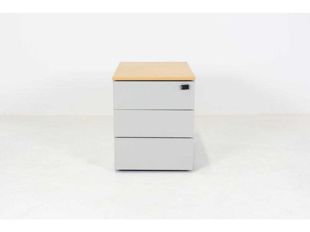 Kontejner, Steelcase, v57x42x56, apple/šedá, kov, hranatý