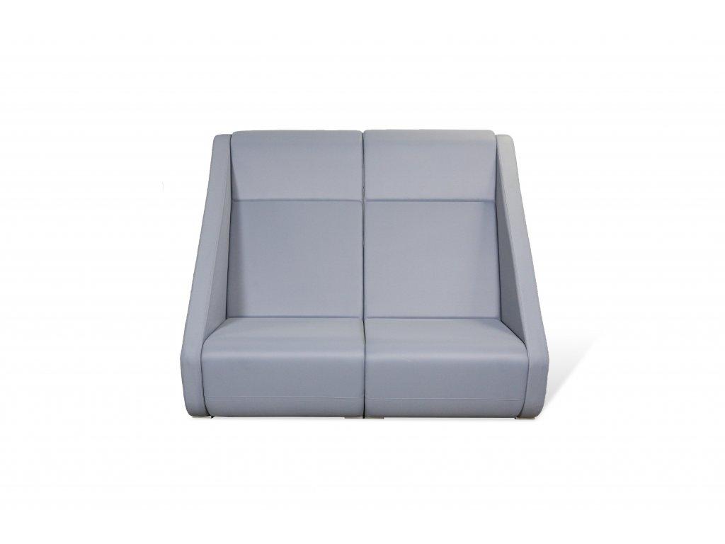 Sofa, LDseating, v145x160x90, šedá, látka, dvousedák