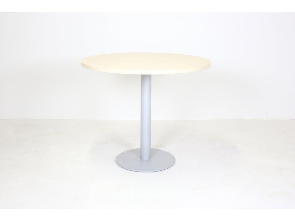 Stůl konferenční, kulatý, 90cm/v.75 cm, javor/šedá
