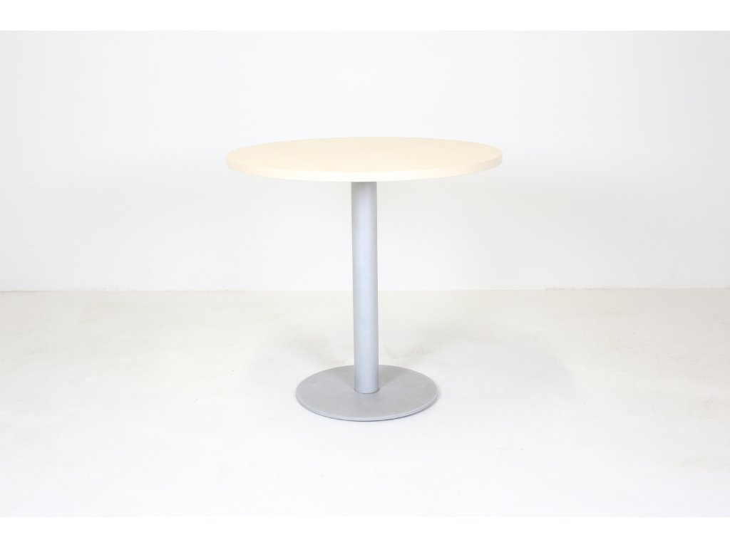Stůl konferenční, kulatý, 80cm/v.75 cm, javor/šedá