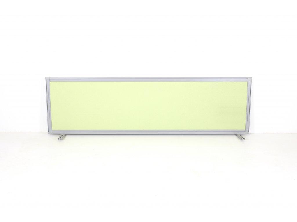 Paraván, Samas, 160x40x2,5cm, zelená/šedá