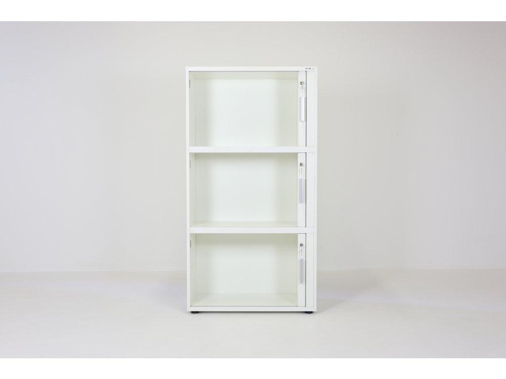 Skříň, Samas, 152x80x42, bílá, 3xžaluzie, police