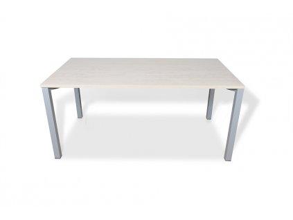 Kancelářský stůl 160x80 hruška  ABS hrana 2mm, LTD/kov nohy